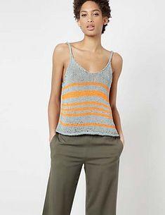 Bob Top Kit by Wool and the Gang Crochet Tank Tops, Crochet Shirt, Knitted Tank Top, Knit Crochet, Knit Tops, Knitting Machine Patterns, Knitting Kits, Knitting Designs, Summer Knitting