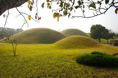 mounds landscape | Burial Mounds in South Korea