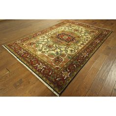 Manhattan Serapi Vibrance Collection Oriental Heriz Hand-knotted Area Rug