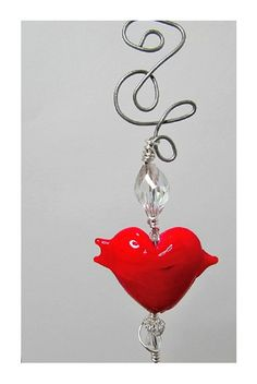 Red Lampwork Heart Stainless Steel Cake Tester by BedazzledbyDebi, $12.00