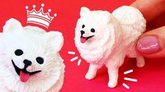 Miniature Pomeranian / Spitz Dog polymer clay tutorial