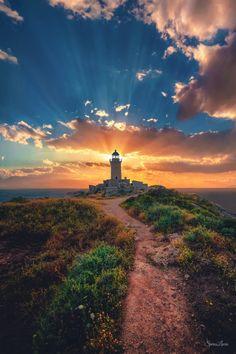 Lighthouse in Loutraki, Greece