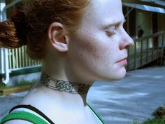 celtic collar tattoo. The type of collar a North slave would have.