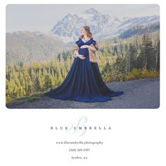 The mountains are such an amazing place for maternity photography.    Gown by Sew Trendy Accessories.