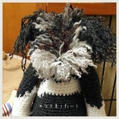 おはよーございます  昨日せっせとモフリました 微妙なグラデとトーンでわかりにくいけど 4色使いましたです  #シュナぐるみ #schnagurumi #編みぐるみ #amigurumi #doll #miniatureschnauzer #miniaturaschnauzerlovers #schnauzer #knitting #handmade #ミニチュアシュナウザー #ふわもこ部 by tuchimiki