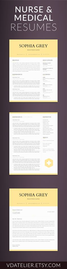 Nurse Resume Template Doctor Resume Template for MS Word RN - nurse resume template free