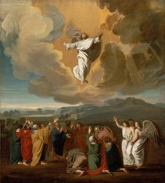 """We have been commissioned to be #missionarydisciples and deliver the Good News to every creature. #AscensionThursday  """"Jesus' Ascension to Heaven"""" by John Singleton Copley, 1775"""