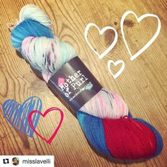 #Repost @misslavelli with @repostapp  So in love with my #daddyslittlemonster yarn from @themotherofpurl  it's incredible!  I'm caking it up as a treat before work can't wait to start my #harleyquinnsocks  #yarnporn #supervillainyarn #yarnoholic #yarnofinstagram
