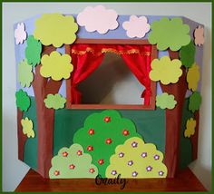 Onaily: TEATRO DE TÍTERES Diy Projects For Kids, Diy For Kids, Crafts For Kids, Diy Cardboard Furniture, Felt Puppets, Glue Gun Crafts, Diy Home Crafts, Preschool Activities, Halloween Crafts