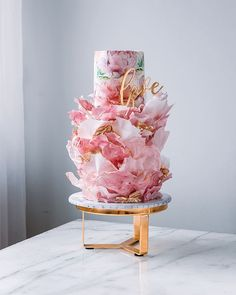Beautiful Wedding Cakes, Gorgeous Cakes, Pretty Cakes, Amazing Cakes, Cake Icing, Eat Cake, Cupcake Cakes, Watercolor Cake, Just Cakes