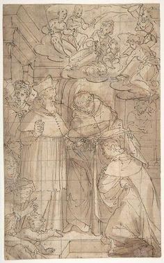 Saint Hyacinth Receiving the Dominican Habit Poster Print by Aurelio Lomi (18 x 24)