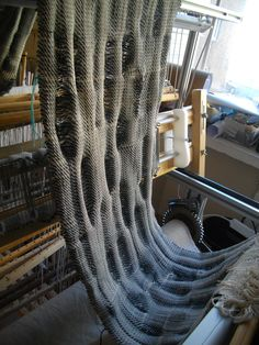 woven with RailReed by Kadi Pajupuu Loom Weaving, Hand Weaving, Lana, Textiles, Blanket, Wool, Knitting, Cotton, Tejidos