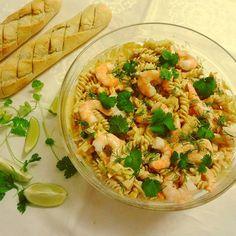 Edel's Mat & Vin : Kremet hot pastasalat med kjempereker !