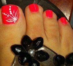 Zehennageldesign Best Summer Toe Nail Designs - DIY Cuteness Landscaping, An American Pass Time Arti Pretty Toe Nails, Cute Toe Nails, Diy Nails, Pretty Toes, Toenail Art Designs, Diy Nail Designs, Nail Designs For Toes, Pedicure Nail Art, Toe Nail Art