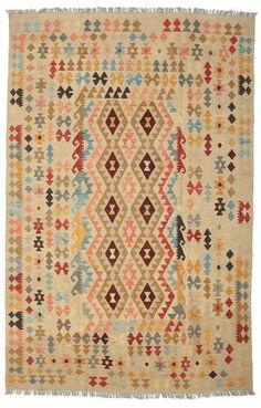 Kelim Afghan Old style Teppich 200x311