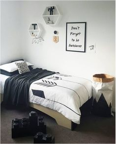Boys room inspo by - our arrows quilt set looks awesome with other monochrome decor - love the throw on it too! by toucan_ White Kids Room, New Room, Girls Bedroom, Bedroom Ideas, Luxury Bedding, Kids Rooms, Room Kids, Decoration, Modern