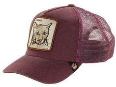 Price:EUR 30.00 Men's Goorin Brothers 'Animal Farm - Cougar' Trucker Hat - Colours: Maroon and Navy ONE SIZE