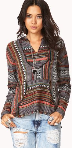 Forever 21 Laid Back Serape Sweater - Lyst