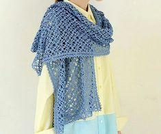 Crochet: crochet stole spider stitch with nice border