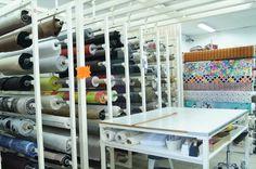 Rayon tissu d'ameublement et toiles cirées au magasin de couture de Husseren-Wesserling (Fellering, Thann, Cernay, Mulhouse)
