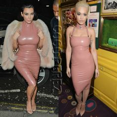Kim Kardashian and Rita Ora arrive at the same party in almost the same dresses!