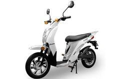 Amego electric moped has top speed of 20 mph.