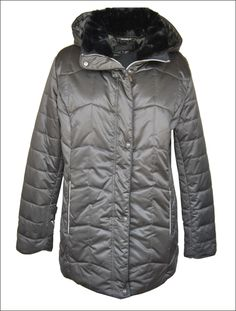 02c8b0f2e2d5 Plus Size Γυναικείο υφασμάτινο μπουφάν από αδιάβροχο και αντιανεμικό ύφασμα  με πουπουλένια επένδυση και προσθαφαιρούμενη κουκούλα