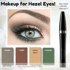 Embedded image eye makeup for hazel eyes, mary kay eyeshadow, hazel green eyes, Mary Kay Eyeshadow, Mary Kay Makeup, Mary Kay Cosmetics, Hazel Eye Makeup, Eye Makeup Tips, Makeup Ideas, Hair Makeup, Makeup Monolid, Makeup Kit