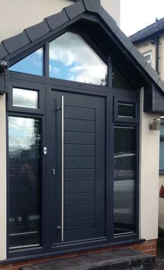 Porch Uk, House Front Porch, Porch Doors, Front Porch Design, House Entrance, Porch Designs Uk, Porch Extension, Extension Ideas, Door Design