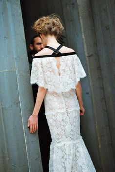 Lace gown / Chanel Couture, Spring 2013.