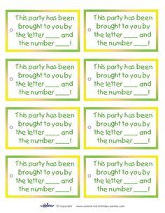 Printable Sesame Street Favor Tags - Coolest Free Printables: