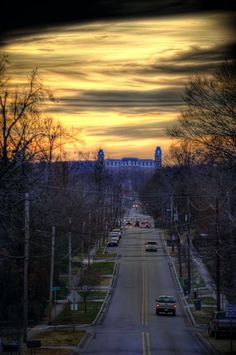 Great atmospheric shot of Old Main.