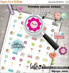 60%OFF - Spring Stickers, Printable Planner Stickers, Flowers Stickers, Erin Condren, Kawaii Stickers, Floral Stickers, Planner Accessories,