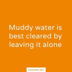 Muddy water is best cleared by leaving it alone  - #mentalhealth #mentalwellness #anxiety #adhd #ana #anorexia #bipolar #depression #disorders #endstigma #positivity #recovery #removethelabel #selfcare #quote #qotd #smile #instagood #fandabby  We donate ALL our profits to @RethinkMentalIllness and @YoungMindsVs