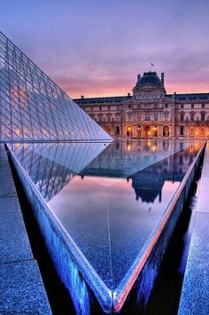 The most beautiful shot of The Louvre we've ever seen. The Louvre Museum in Paris, France Places Around The World, Oh The Places You'll Go, Places To Travel, Places To Visit, Around The Worlds, Paris France, Oh Paris, Paris Travel, France Travel