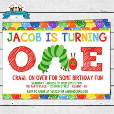 The Very Hungry Caterpillar Birthday Party by LilFacesPrintables, $11.95