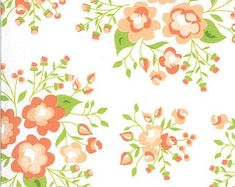 Apricot Ash Petal Path Light Lime by Corey Yoder for Moda | Etsy Pistachio Green, Thing 1, Custom Quilts, Fabric Squares, Spring Garden, Modern Prints, Floral Bouquets, Rose Buds, 1 Piece