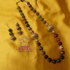 Meenakari Semi Precious Stone Necklace