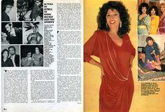 """""""Yoná Magalhães - A Vida é um Cabaré"""" - reportagem da revista """"Manchete"""" de 1986 - página 2/3."""