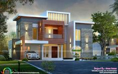 House contemporary style awesome contemporary style sq ft home house architecture and modern kerala house plans . House Architecture Styles, Architecture Magazines, Amazing Architecture, Contemporary Style Homes, Contemporary House Plans, Contemporary Interior, Bungalow House Design, Modern House Design, Bungalow Ideas