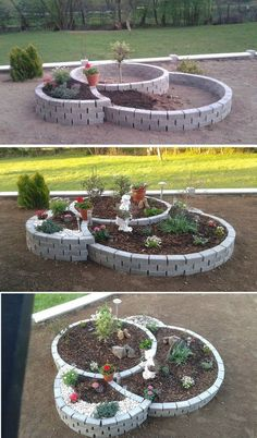 raised garden beds diy diy raised garden small vegetable gardens vegetable garden diy vegetable garden design raised garden building raised garden beds has many rewards to it its the kind o raisedgarden bedsdiy Garden Yard Ideas, Garden Projects, Diy Projects, Garden Pond, Backyard Ideas, Brick Garden, Garden Ideas With Bricks, Patio Ideas, Dog Backyard