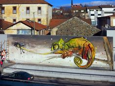 Bordalo II in Bragança, Portugal