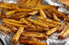 Low fat, crispy fries baked in your oven. A quick, inexpensive and easy side dish your whole family will love. Keep the skin on the potatoes for added fiber.   Sodium girl asked me to participate in her Love Your Heart Recipe Rally in honor of National Heart Health Month and post a low sodium recipe to prove that many Americans can take healthcare back into their own hands. The USDA recently announced its latest food guidelines which called for many Americans to reduce their sodium intake to…