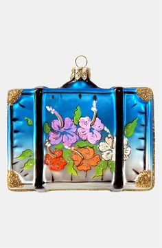 Delightful Tropical Hawaii Suitcase Ornament - Ornament Reviews