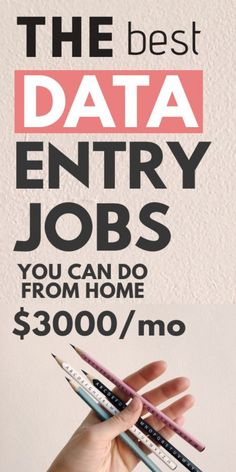 Data entry jobs are a great option for those who want to make easy money from home. To qualify, you just need a PC and good typing skills with great accuracy. #dataentry #dataentryjobs #workfromhome If you're interested in a work from home data entry job you should check out these companies who are often hiring. data entry, data entry jobs, work from home jobs, work from home. there are lots of work from home jobs, of which some are data entry jobs which you can try.