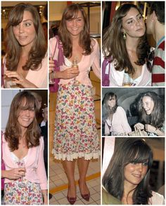 Lovely Kate ten years ago in 2006 during her very short phase of having a full on side fringe.  She and her sister Pippa attended the opening of The Shop at Bluebird in Chelsea, London, where they were seen chatting with the likes of Vivienne Westwood and Mary Quant as well as Lord Frederick Windsor. The store was opened by Belle and John Robinson, the owners of the Jigsaw fashion and accessories store that Kate would start working for a few months later.  Kate, William and other friends…
