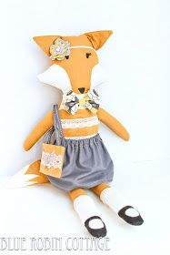 Miss Fox dolly - sadly pattern not available, but good DIY inspiration