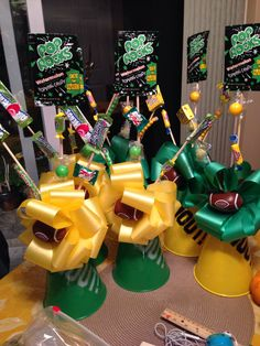 Fanciful basketball centerpieces the decorated party themed decor sports theme photo cube centerpiece ideas banquet for . Cheerleading Gifts, Cheer Gifts, Cheer Coaches, Cheer Mom, Team Gifts, Sports Gifts, Sports Party, Youth Cheer, Gymnastics Gifts