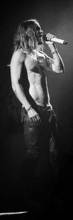 Jared Leto shirtless onstage