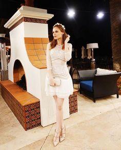 Alyssa Campanella wears our #SS16 Seascape Dress #THREEFLOOR
